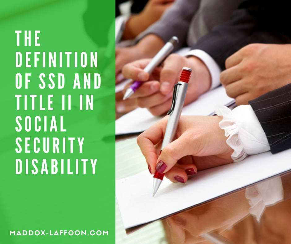 What does Title II and SSD Mean in Social Security Disability